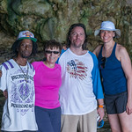 2015-01 Barbados Trip_0267 Anita, Daniel & Lindsey with our Guide in the Animal Flower Cave (Adjusted)