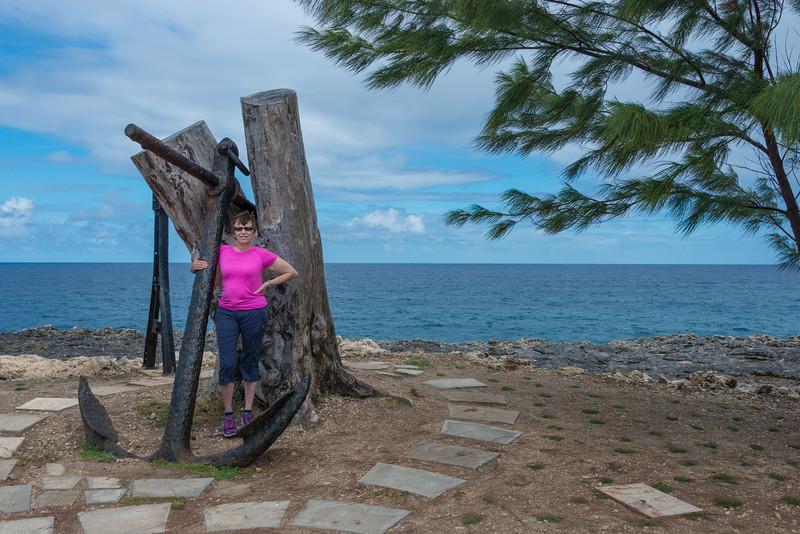 2015-01 Barbados Trip_0286 Anita at The Animal Flower Cave