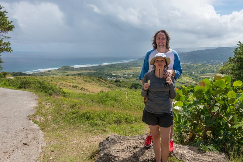 2015-01 Barbados Trip_0289 Daniel & Lindsey at Cherry Tree Hill
