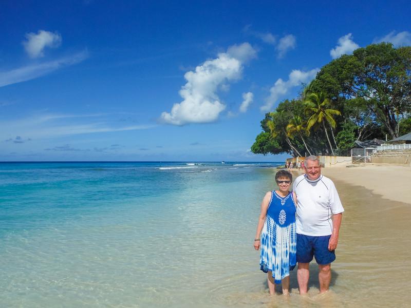 2015-01 Barbados Trip_0402 Ron & Anita on the Beach