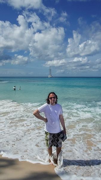 2015-01 Barbados Trip_0410 Daniel on the Beach