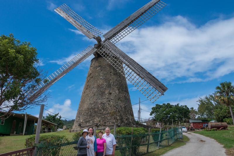 2015-01 Barbados Trip_0299 Lindsey, Daniel, Anita & Ron at a Sugar Mill