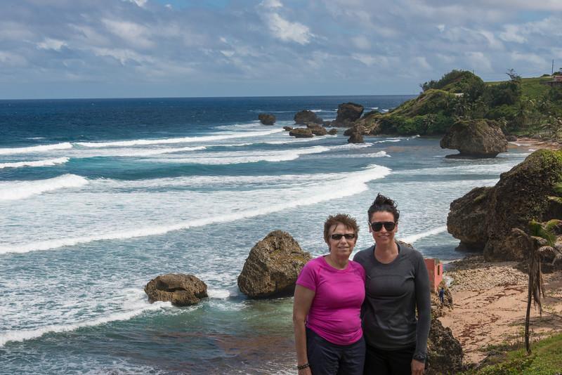 2015-01 Barbados Trip_0309 Anita & Lindsey at Bathsheba Beach