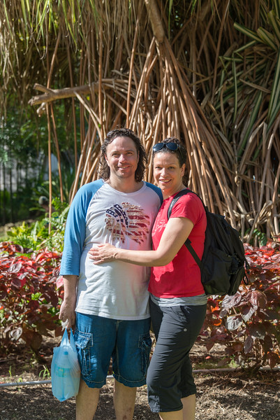 2015-01 Barbados Trip_0011 Daniel & Lindsey in our Hotel Courtyard