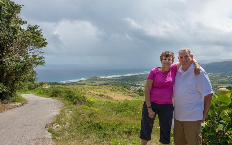2015-01 Barbados Trip_0293 Ron & Anita at Cherry Tree Hill