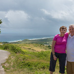 2015-01 Barbados Trip_0293 Ron & Anita at Cherry Tree Hill