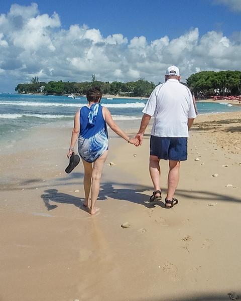 2015-01 Barbados Trip_0417 Ron & Anita on the Beach