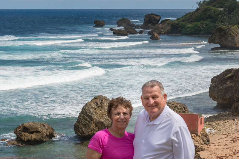 2015-01 Barbados Trip_0312 Ron & Anita at Bathsheba Beach
