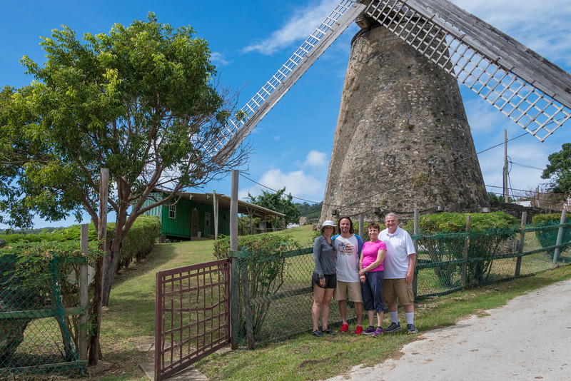 2015-01 Barbados Trip_0295 Lindsey, Daniel, Anita & Ron at a Sugar Mill