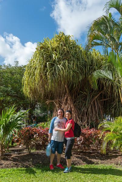 2015-01 Barbados Trip_0009 Daniel & Lindsey in our Hotel Courtyard
