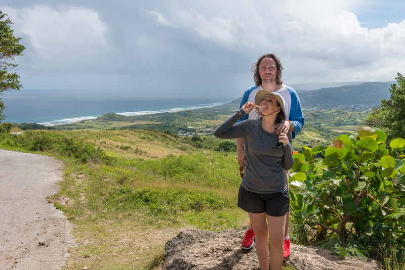 2015-01 Barbados Trip_0290 Daniel & Lindsey at Cherry Tree Hill