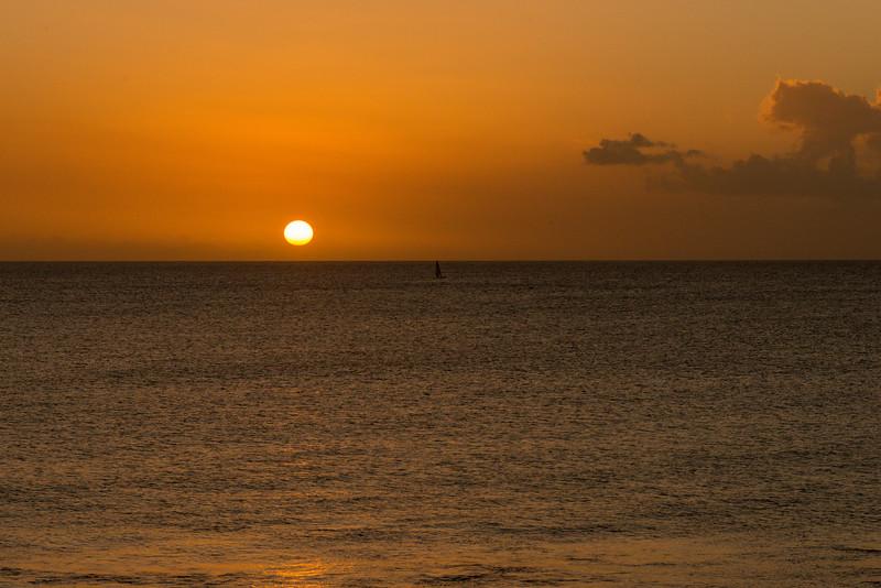 2015-01 Barbados Trip_0201 Sunset from our Room Veranda