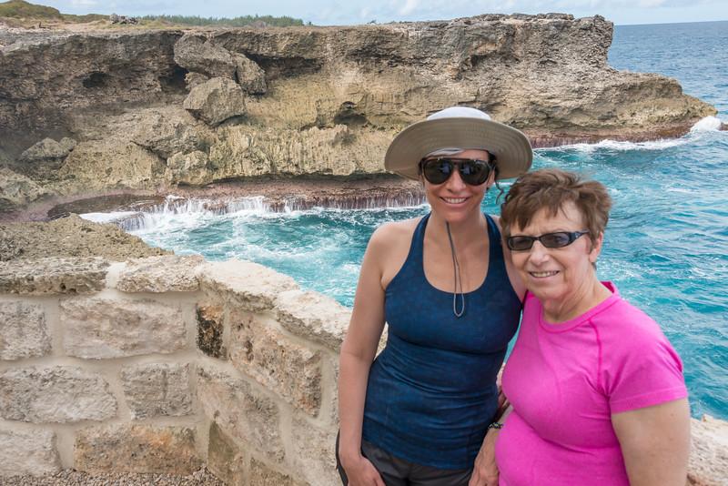 2015-01 Barbados Trip_0258 Lindsey & Anita on the Northeast Coast