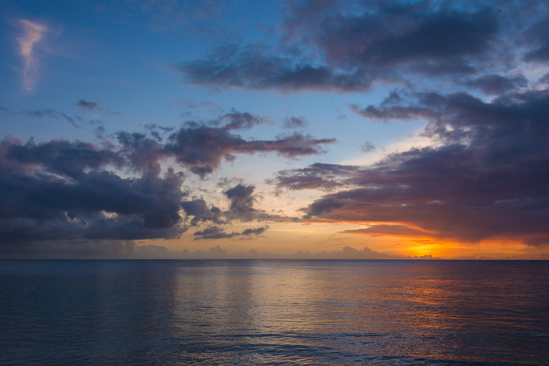 2015-01 Barbados Trip_0367 The Sunset from our Hotel Room Veranda