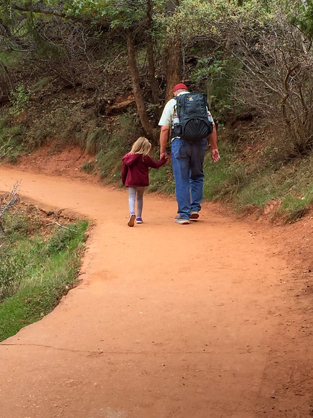 2015-10-17 Enloe Family at Zion National Park_0006 - Ron with Ayla on her Birthday