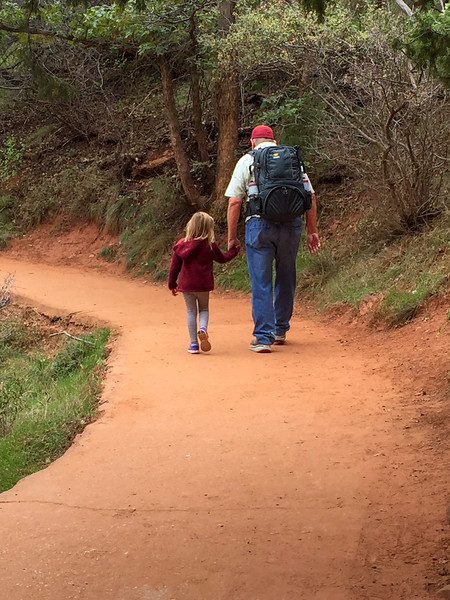 2015-10-17 Enloe Family at Zion National Park_0007 - Ron with Ayla on her Birthday