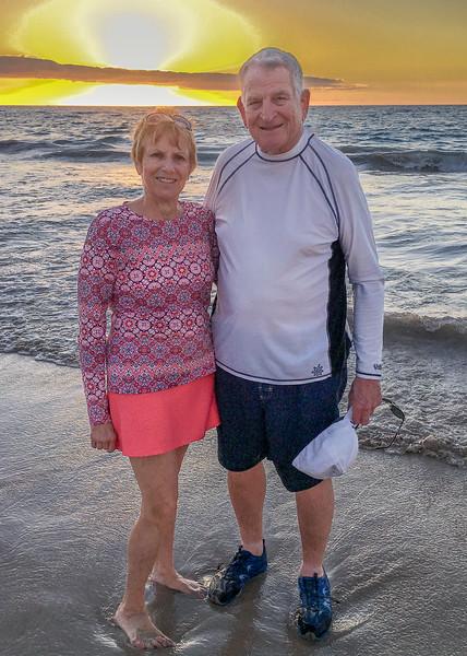 Ron & Anita on Hapuna Beach
