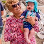 Anita & Mason at the Pool