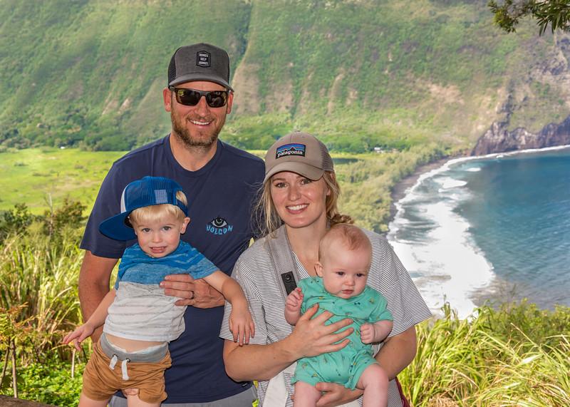 Parker, Pam, Miles & Mason at Waipio