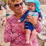 Anita & Mason at the Pool
