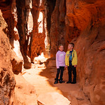 Maggie & Winston in Jenny's Canyon in Snow Canyon State Park