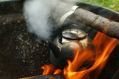 Nuotiokahvit - Coffee at camfire Eno 2012