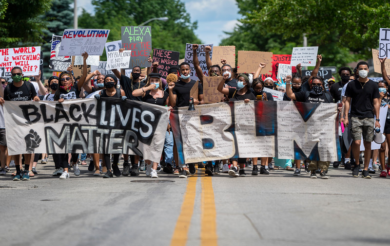 The Enough is Enough rally on June 5, 2020 in Bloomington, IN.  (Photo/Alex Kumar)