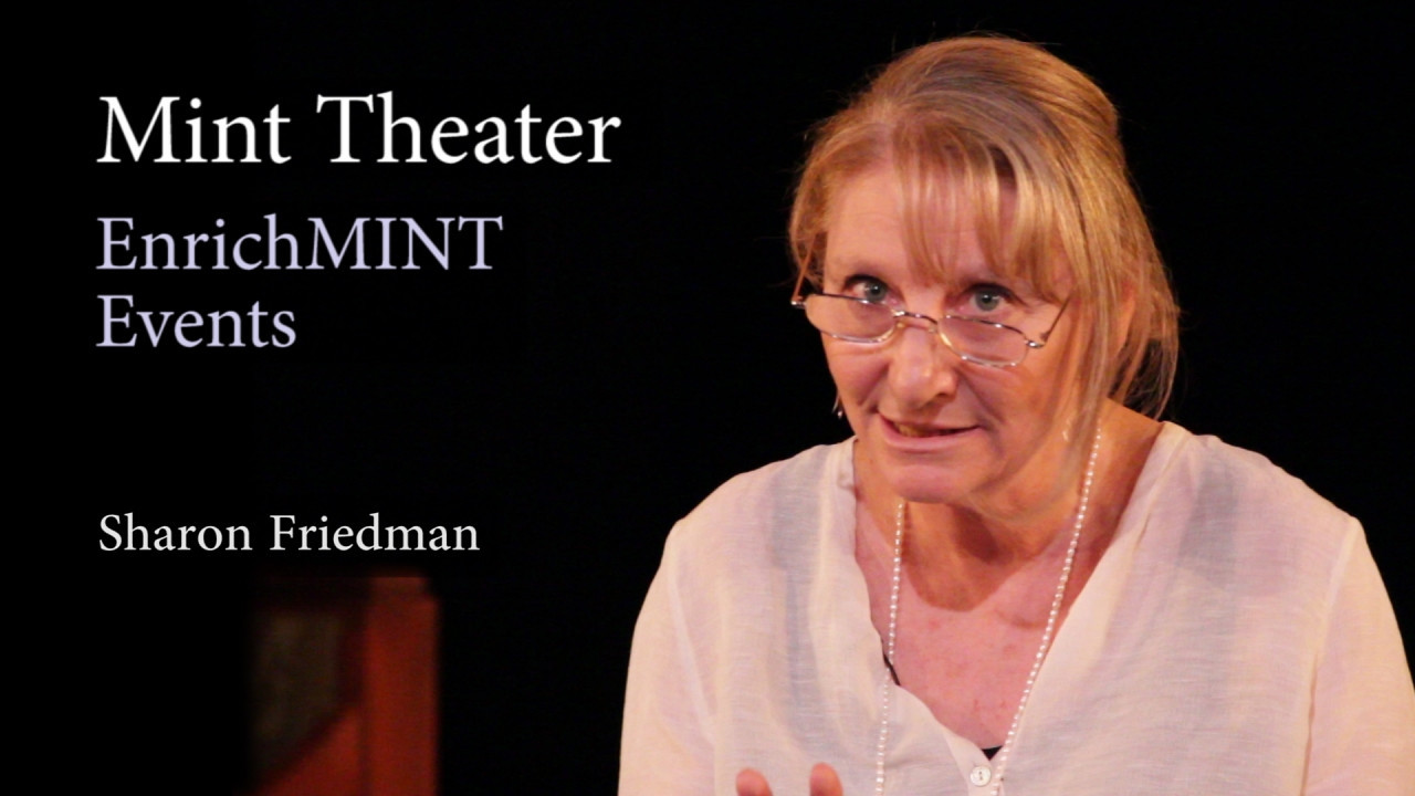 "Dr. Sharon Friedman on Rachel Crothers<br /> <br /> Dr. Sharon Friedman from New York University speaks to the audience of the Mint Theater about Rachel Crothers, author of ""A Little Journey"". Recorded live on 5/21/2011. Video by Joshua Paul Johnson."