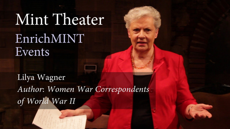 Lilya Wagner Part 1: How did you begin your research?<br /> <br /> Dr. Lilya Wagner reveals how she was inspired to begin her groundbreaking research into the women war correspondents of World War II, whose accomplishments had been largely ignored by historians. While studying journalism, Dr. Wagner was inspired to find out more about these remarkable, overlooked women. She was fortunate to talk to many of the surviving correspondents in person. During her research, she also befriended Barney Oldfield, an aide to General Eisenhower who helped develop protocol for the army's dealing with the press during the war, including the establishment of press camps. Finally, Dr. Wagner discusses her childhood as an Estonian refugee to the United States, and how her love for her new country inspired her to appreciate the patriotism and bravery of the women correspondents.  June 3, 2012.  Video by Joshua Paul Johnson.