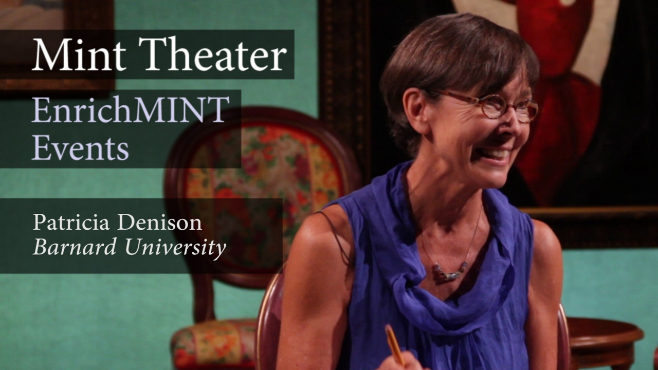 "Patricia Denison–Part 1: ""What's been going on?""<br /> <br /> Patricia Denison, professor of dramatic literature at Barnard College and author of ""John Osborne: A Casebook"" visits Mint Theater to discuss MARY BROOME by Allan Monkhouse. In this video segment, she offers glimpses into Edwardian social history as well as British theater history, providing a historical context for the play.<br /> <br /> Denison also discusses playwright, John Osborne, who transformed English theatre in the 1950s with plays featuring the ""Angry Young Man"" that railed against establishment hypocrisy. Using examples from Osborne's ""Look Back in Anger"", Denison draws parallels between Osborne's character, Jimmy Porter, and Monkhouse's character, Leonard Timbrell, who predates the former by nearly half a century.  September 8, 2012.  Video by Joshua Paul Johnson."