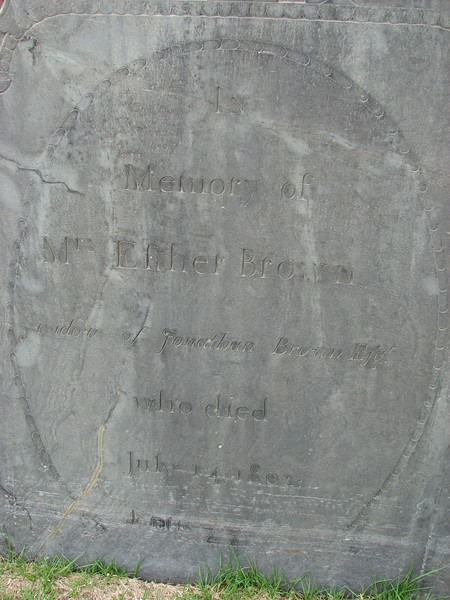 Close up of her inscription