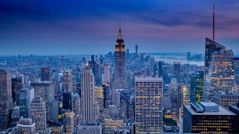Anoitecer em Manhattan