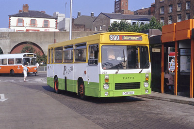 Stevenson Uttoxeter C42HDT Stockport Bus Station Sep 91