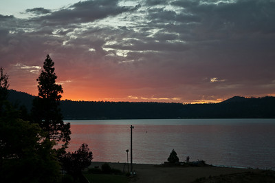 Big bear Lake, CA Sunset