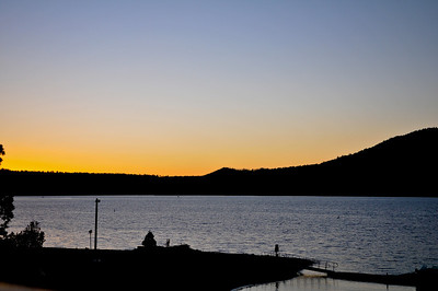 Big bear Lake, CA Late sunset