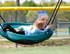 JACK LYNCH/THE ENTERPRISE<br /> 06.05.2015<br /> Grace Smith 4 and Vivian Stanney 3 from Sandwich enjoy a beautiful day at the Heritage Park playground.