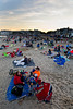 JACK LYNCH/THE ENTERPRISE<br /> 07.04.2015<br /> Falmouth Heights Beach had a steady stream of people search out their own plot of sand as nine o' clock approached to celebrate the 4th of July.