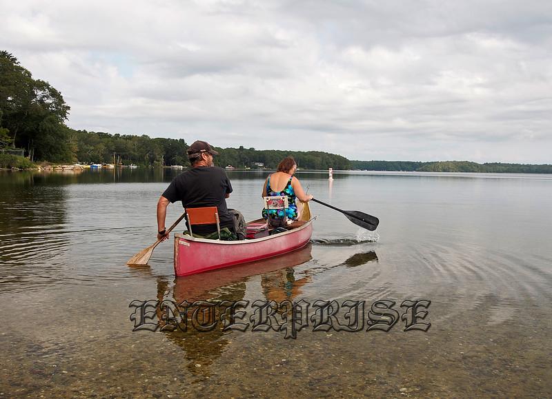 Paddling Out Onto Mashpee-Wakeby Pond