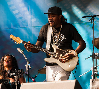 Guitarist Eric Gales performs at MemphoFest 2018 in Menphis TN