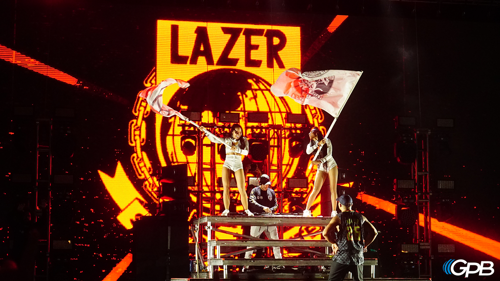 Major Lazer closes out Night One of the festival.