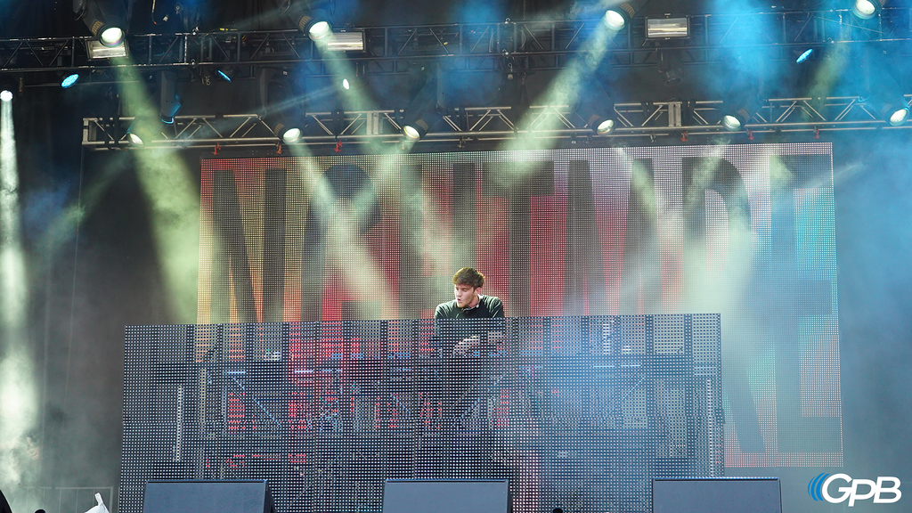 NGHTMRE performs at the Piedmont Stage on Day 3.