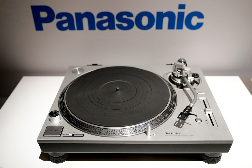 . Panasonic\'s direct drive Hi-Fi turntable is on display during a news conference at CES International Wednesday, Jan. 4, 2017, in Las Vegas. (AP Photo/Jae C. Hong)