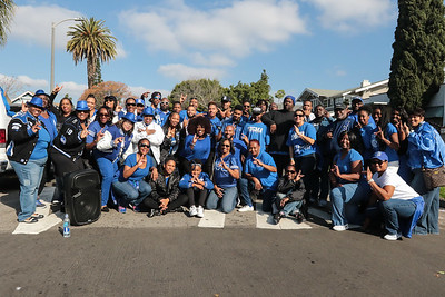 The Brothers of Phi Beta Sigma Fraternity Inc. with our Sister of Zeta Phi Beta on their Founders Day January 16, 2017 at 32nd King Day Parade in Los Angeles.