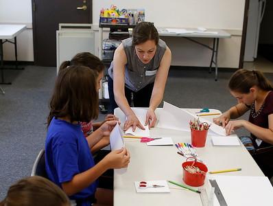 Book making workshop at the Bennington Free Library. 071916