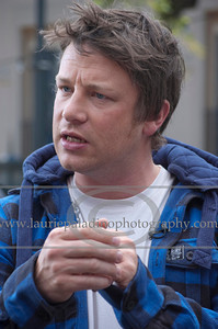 British Chef Jamie Oliver who started his career known as The Naked Chef discusses his Emmy Award winning American television series Jamie Oliver's Food Revolution in Los Angeles CA 04/272011 (mandatory photo credit Laurie Paladino)