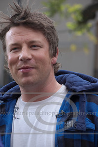 British Chef Jamie Oliver who started his career known as The Naked Chef discusses his Emmy Award winning American television series Jamie Oliver's Food Revolution in Los Angeles CA 04/272011 (Photo credit manadatory Laurie Paladino)