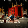 "KRISTOPHER RADDER - BRATTLEBORO REFORMERCrews work to build a two-level set for the Bellows Falls Opera House performance of ""Sweeney Todd: the Demon Barber of Fleet Street,"" that will open on Thursday, March 16 for a two-weekend run."