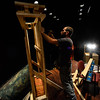 "KRISTOPHER RADDER - BRATTLEBORO REFORMER<br /> David Sterns builds the chimney on the second level  on Jan. 24, 2017, for the Bellows Falls Opera House performance of ""Sweeney Todd: the Demon Barber of Fleet Street"" that will open on Thursday, March 16 for a two-weekend run."