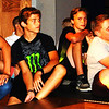 Debbie Blank | The Herald-Tribune<br /> Some male actors pay close attention to director Chris Guidi's instructions.