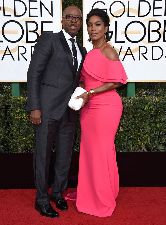 . Courtney B. Vance, left, and Angela Bassett arrive at the 74th annual Golden Globe Awards at the Beverly Hilton Hotel on Sunday, Jan. 8, 2017, in Beverly Hills, Calif. (Photo by Jordan Strauss/Invision/AP)
